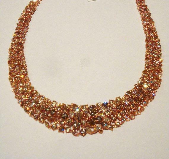 LAST CALL BEFORE IT GOES!! $280K 18KT WINSTON STYLE YELLOW PINK DIAMOND NECKLACE