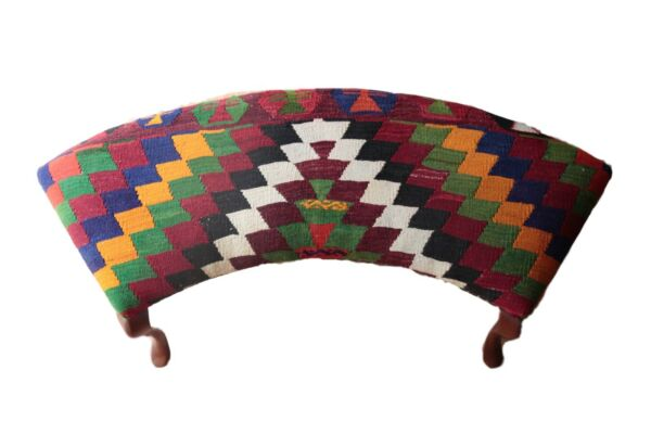 Vintage Kilim cover OttomanUnique Kilim Upholstered FurnituresFurnitures Kilim