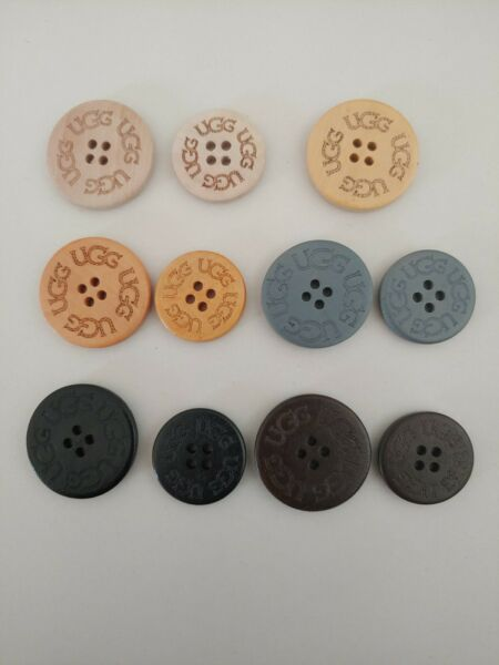 UGG UGGs Replacement Boots Buttons Wood 30mm 25mm tan black brown gray