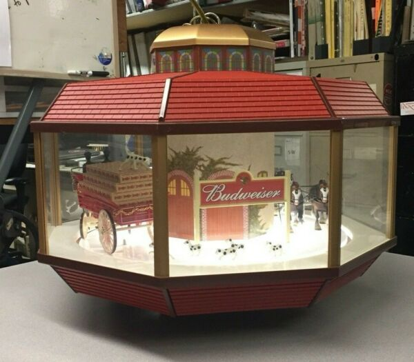 RARE Vintage Budweiser Clydesdale Octagon Carousel - Motion Sign  Light