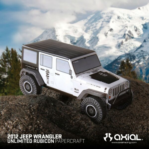 Papercraft - 2012 jeep wrangler unlimited - Scale 1:24