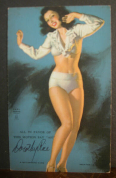 Earl Moran Mutoscope Card All In Favor Of Motion Hand Signed Dorothy Rice Model
