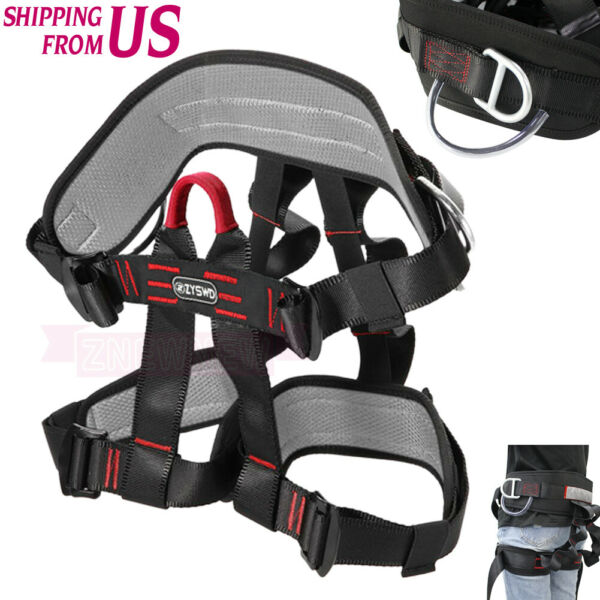 Safety Rock Tree Climbing Belt Rappelling Harness Seat Sitting BustHalf Body US