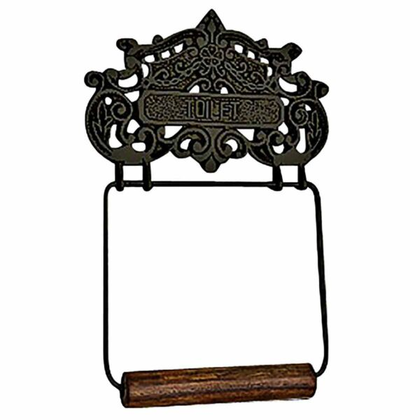 Princess Crown Toilet Tissue Holder Black Aluminum | Renovator's Supply