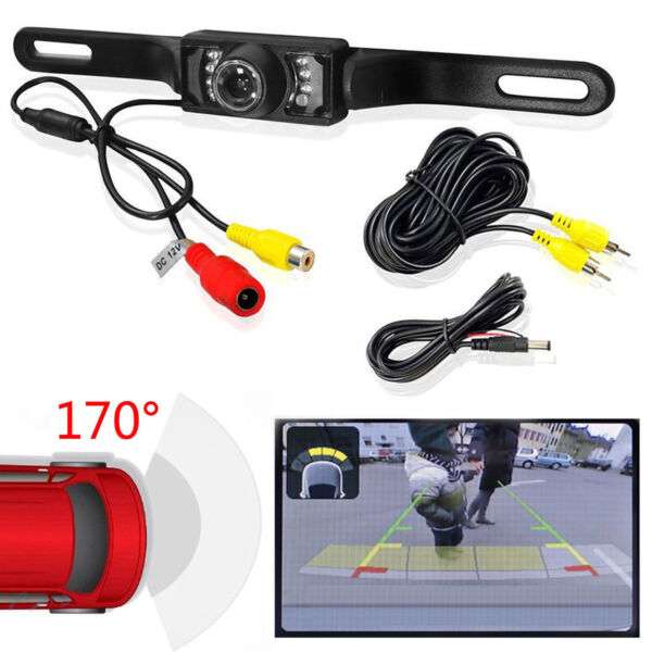 Waterproof CMOS Car License Plate Rear View Reverse Backup Night Vision Camera