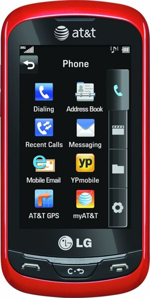 New LG Xpression C 395 QWERTY Sliding Keyboard GSM Unlocked Red Cheap Phone $59.99
