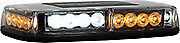 Buyers 8891042 LED Magentic Emergency Amber Clear Strobe Mini Light Bar Tow Plow