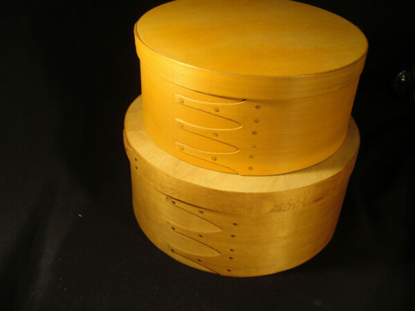 VTG Set of 2  Midwest Wooden Nesting Shaker Pantry Boxes Taiwan