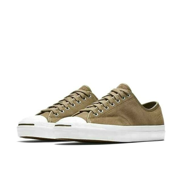 NEW Men's Size 9 Converse Jack Purcell PRO OX Low Top Shoes Khaki Tan Suede