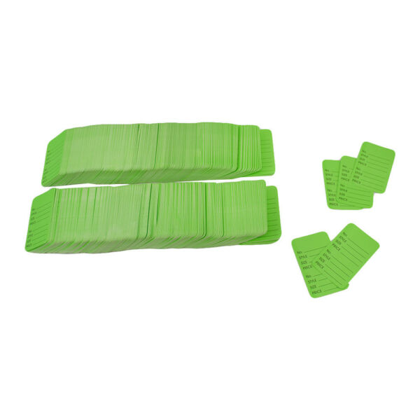 1000 Pcs Large Green Merchandise Coupon Price Tag Perforated 1 3 4quot;x 2 7 8quot;