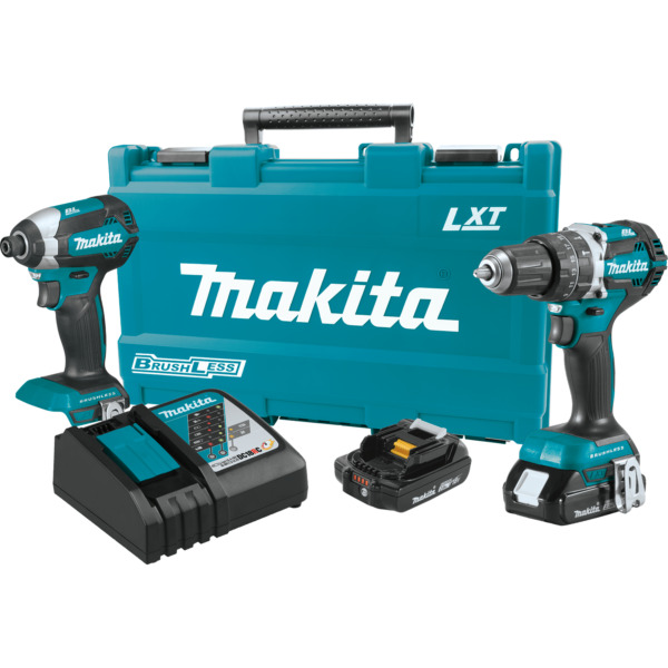 Makita XT269R 18V LXT® Lithium‑Ion Brushless Cordless 2‑Pc. Combo Kit (2.0Ah)