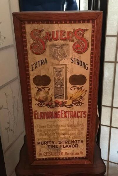 Sauer's Flavoring Extracts Advertising Cabinet MAKE ME AN OFFER!!!