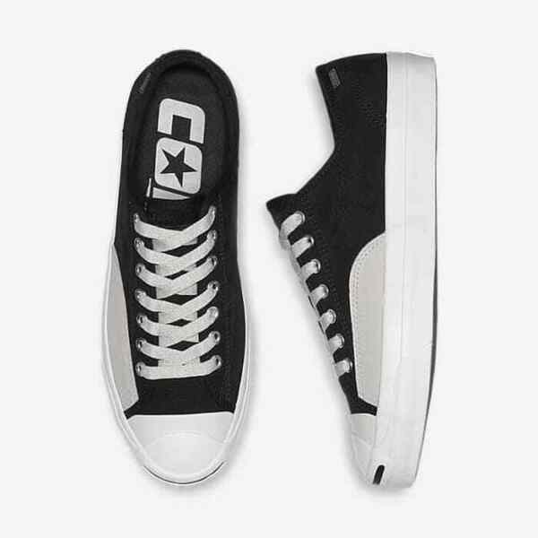 NEW Men's Size 10 Converse Jack Purcell Pro Ox Low Top Black Pale Grey 162510C