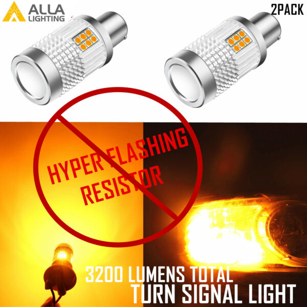 Alla Lighting LED 1156 CANBUS Turn Signal Light BulbNo need to add resistors