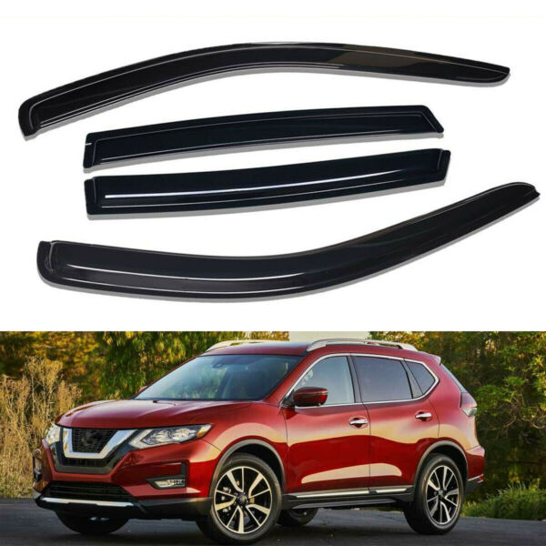For 2014-2019 Nissan Rogue Window Visor Sun Rain Guards Vent Shade Deflector 4PC