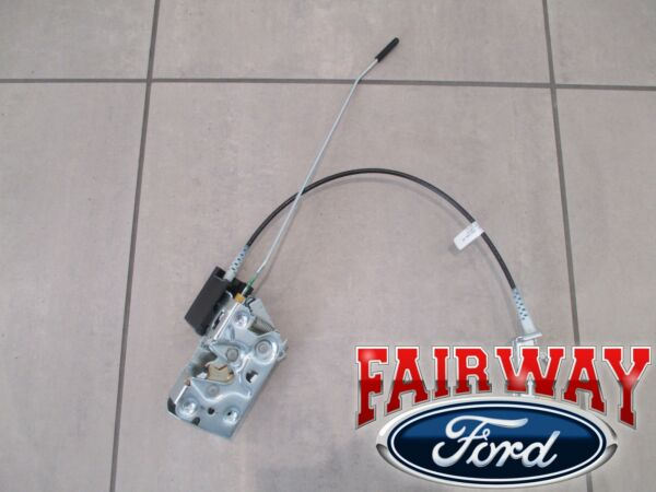 94 thru 96 Bronco F-150 OEM Ford Door Latch & Lock Control w Cable LEFT DRIVER