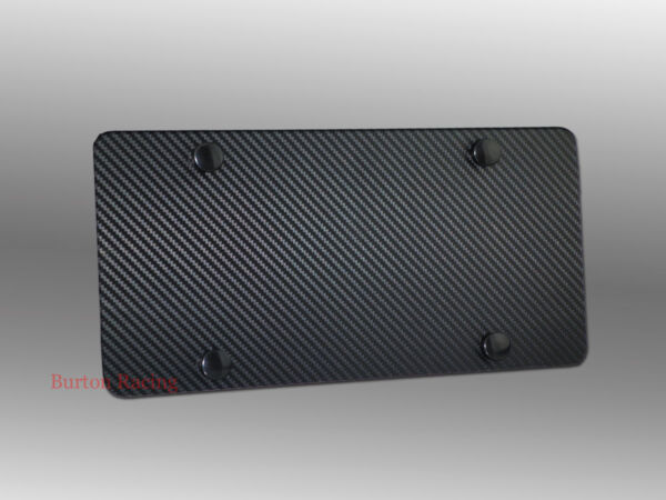 Carbon Wrap Stainless Steel Heavy Metal License Plate For FORD DODGE MITSUBISHI $14.99