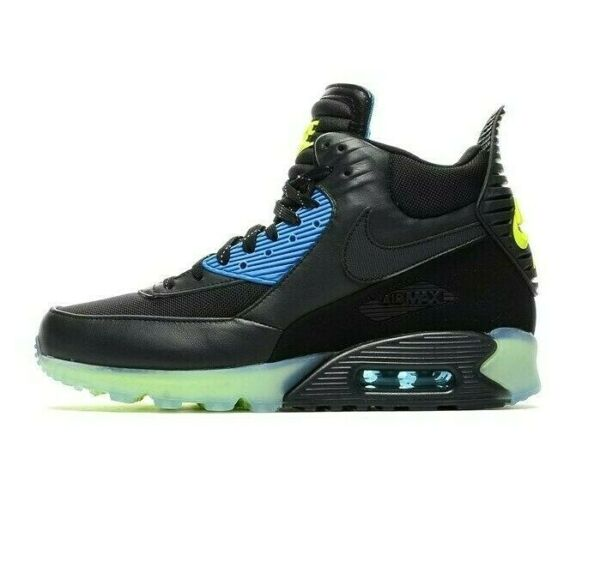 N i k e Men Air Max 90 Sneakerboot Ice Shoes 684722 001 SIZE 8 12 Black $152.91