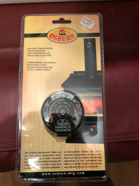 Osburn Magnetic Wood Stove Thermometer $20.99