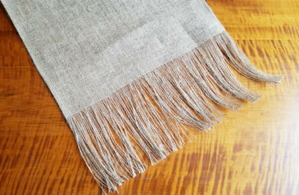 Plain Natural Burlap Table Runner with 6quot; Fringed Ends UNLINED Various Sizes