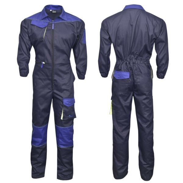 Men#x27;s Work Wear Overalls Boiler Suit Coveralls Mechanics Boilersuit Navy Blue $38.99