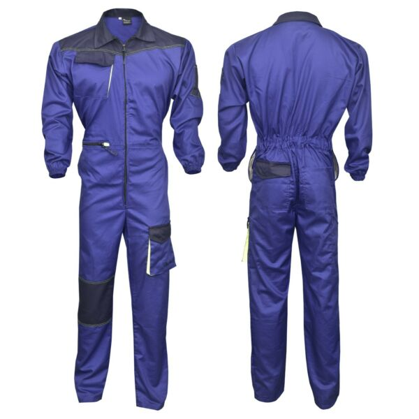 Men#x27;s Work Wear Overalls Boiler Suit Coveralls Mechanics Boilersuit Royal Blue $38.99