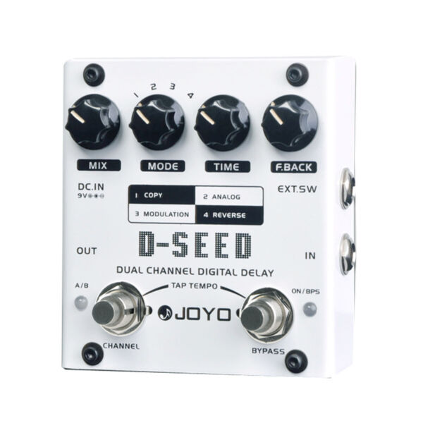 JOYO D-SEED Dual Channel Digital Delay 6 Sec Guitar Effect Pedal Four Modes New