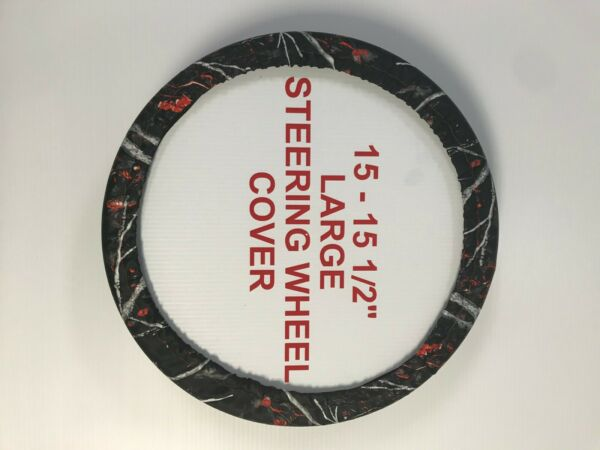 Camouflage Steering Wheel Covers - Sirphis Wildfire - Large (15