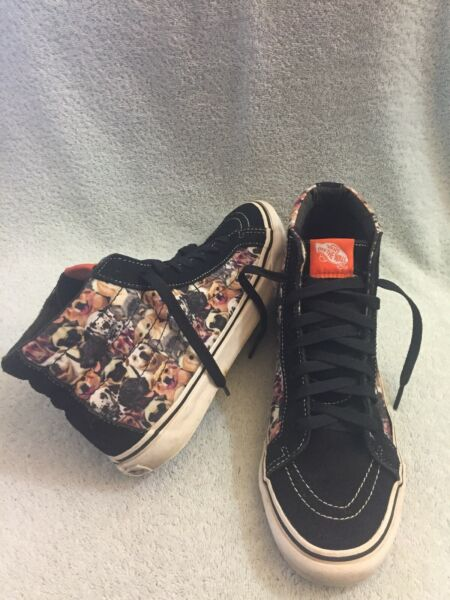 Vans Aspca High Top Dogs Print Limited Edition Men Size 8 Wmns 9.5 $85.00