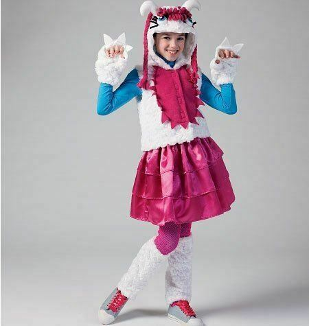 McCalls Sewing Pattern 6816 Girls Monster Costumes Size 10 1 2 16 1 2 AU $15.00