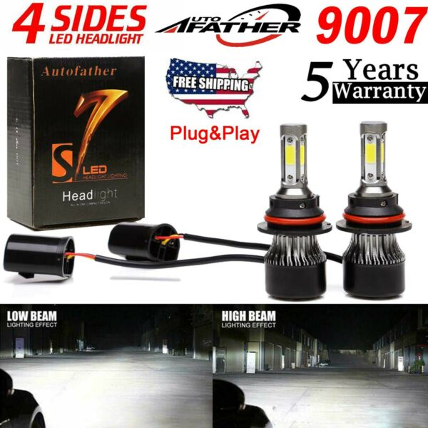 2x 9007 2000W LED Headlight Bulbs for Dodge Durango 98-03 High Low Beam Bright