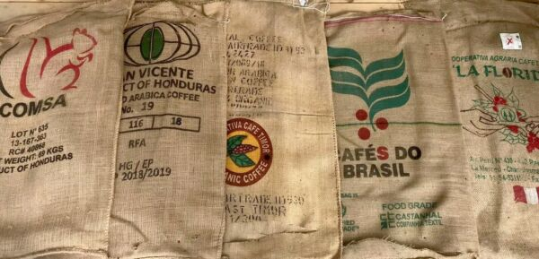 1 Single Imported Coffee Burlap Bag Clean Cut On 1 End Crafts Decor Timor