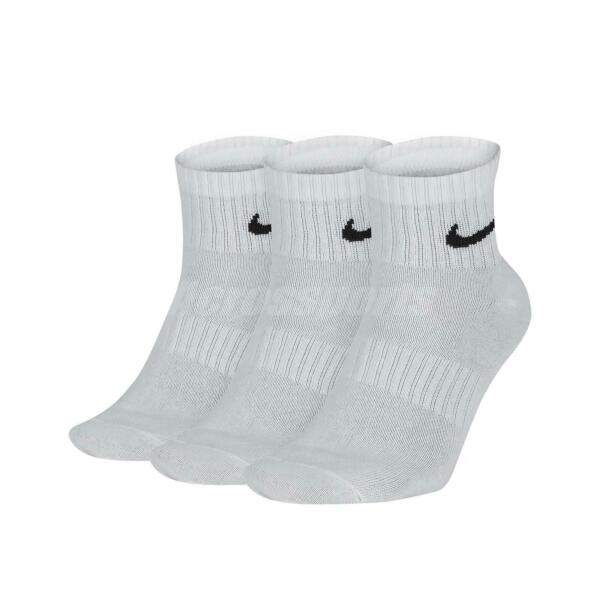 Nike Dri-FIT Everyday Lightweight Ankle Socks 3 Pairs 1 Pack White SX7677-100