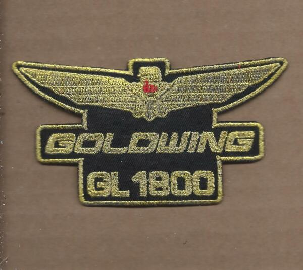 NEW 2 1 4 X 4 1 8 INCH GOLDWING GL1800 IRON ON PATCH FREE SHIPPING $4.99