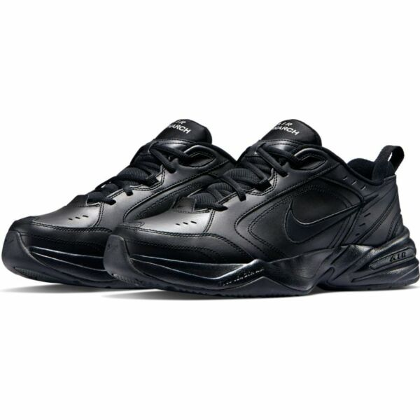 Nike AIR MONARCH IV Mens Black 001 Walking Shoes WIDE amp; Medium WIDTH 4E EEEE