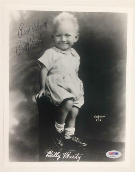 Actor BILLY BARTY Autograph WILLOW Signed 8x10 Photo ~ PSADNA COA #X32591