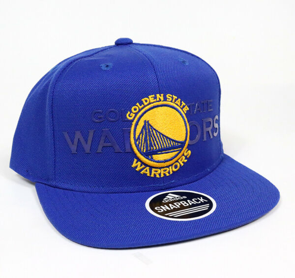 Adidas Authentic Golden State Warriors Snapback Royal Blue Adjustable