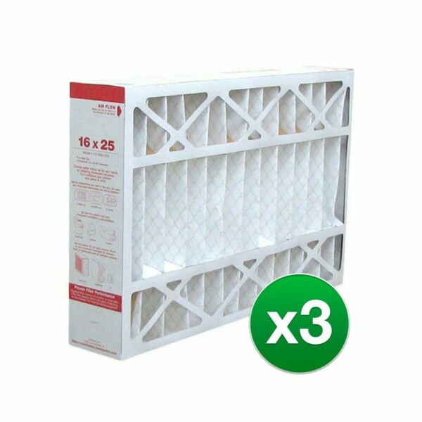Replacement Air Filter For Lennox HCC16 28 Furnace 16x25x5 MERV 11 3 Pack $89.99
