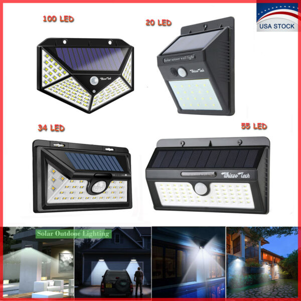 203455100LED Solar Lights Outdoor Motion Sensor Wall Light Waterproof Garden