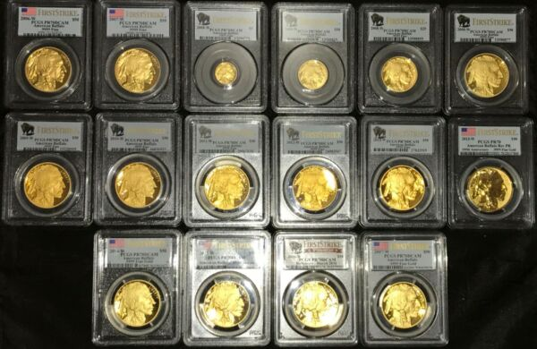 2006 to  2008 to 2020 Gold Buffalo proof set PCGS PR70 FS  19 coins all perfect