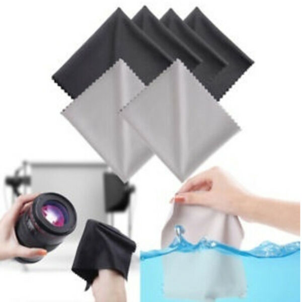 10X Microfiber Cleaning Cloths for Camera Lens Glasses Screen Wipes Cloth Kit US