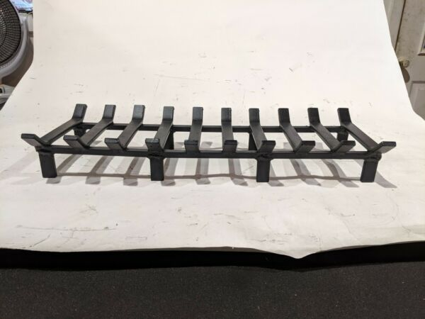 Heavy Duty 26 x 10 Inch Rectangular Steel Fireplace Grate - Made in the USA