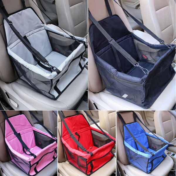 Portable Dog Booster Car Seat Carrier Bag Pet Travel Protector with Safety Belt $16.90