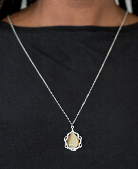 Paparazzi Necklace Keep It On The Down GLOW Brown