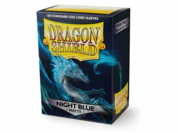 Matte Night Blue 100ct Dragon Shield Standard Size Sleeves SHIPS FREE 10% OFF 2 $9.10