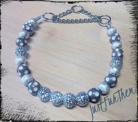 Silver and Grey Collar $30.00