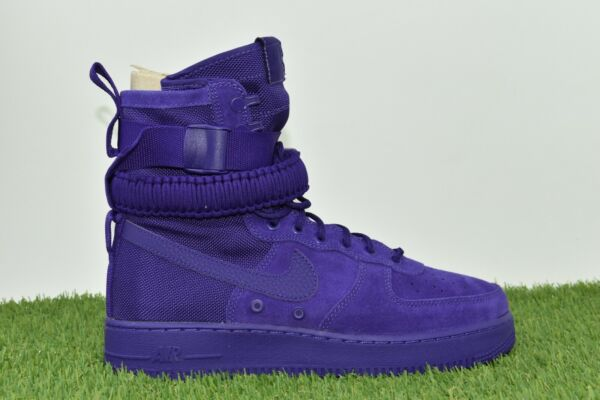 New Nike SF AF1 Air Force 1 Size 10.5 One High Boot Purple 864024 500