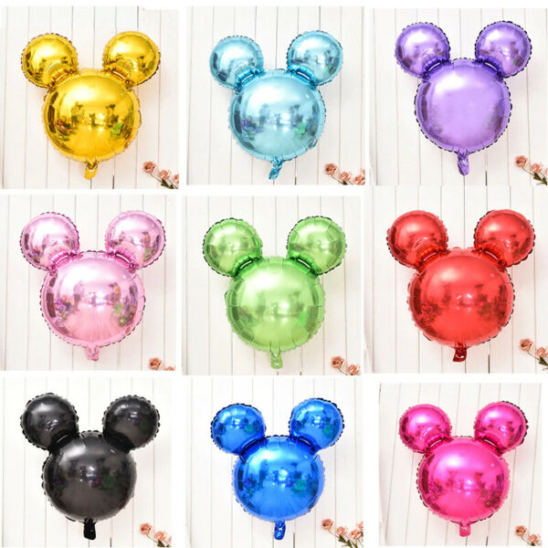 Mickey Mouse Silhouette Balloons Birthday Baby Shower Party Decorations Supplies
