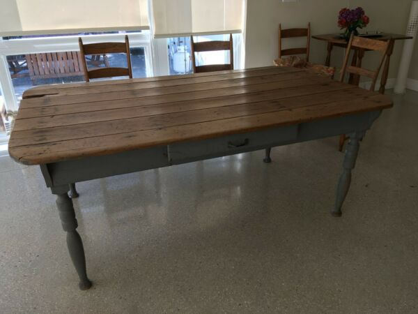 antique harvest farm table from Virginia