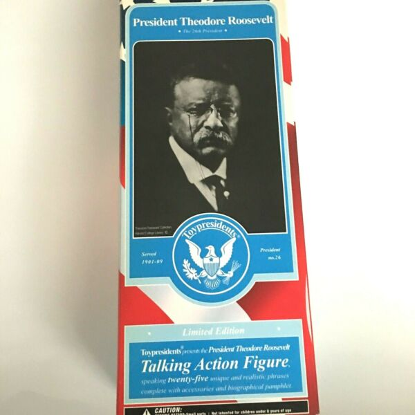 Theodore Roosevelt #26 President of the USA Collectable Talking Action FigureD64